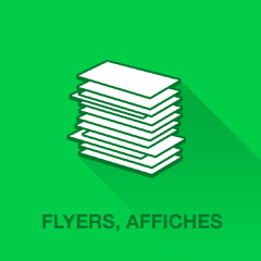 Feuillets flyers, affiches