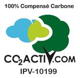 Intégrez le logo CO2 Activ', notre code IPV, et la mention 100% compensé carbone à vos imprimés