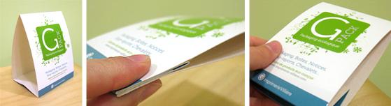 Packaging éco-conçu chevalet Gpack imprimerie Villière