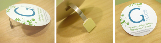 Packaging éco-conçu wobbler stop-rayon Gpack imprimerie Villière