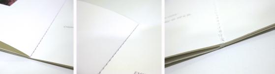 Reliure cousue - couture à plat - imprimerie Villière