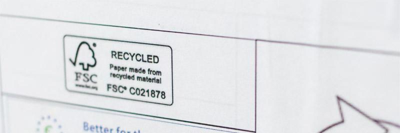 Une palette de papier certifié FSC à l'imprimerie villi®